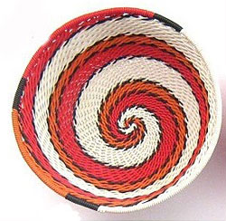 Telephone Wire Red Bowl